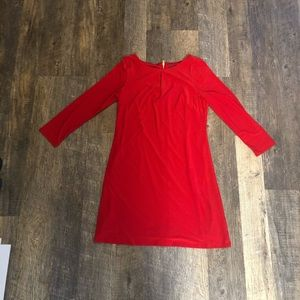 Vince Camuto red dress with long sleeves